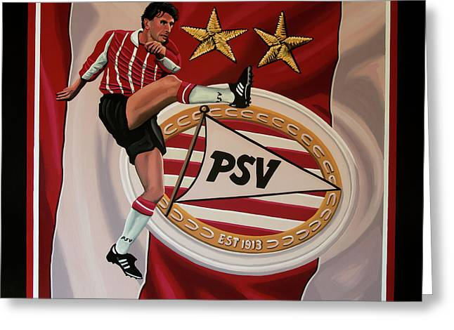 Psv Eindhoven Painting Greeting Card