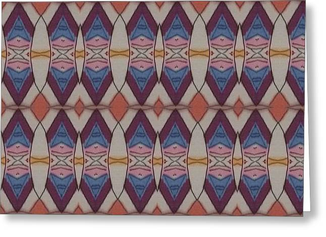 Psychedelic 2 5 17 Greeting Card by Modern Metro Patterns and Textiles
