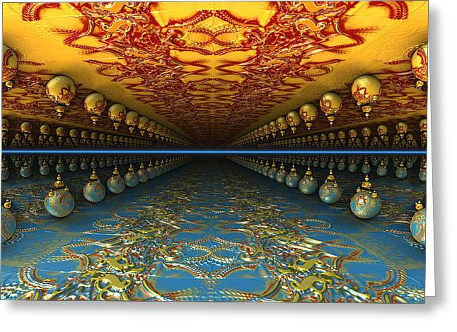 Psychedelic Avenue Greeting Card by Konstantinos Goytzamanis