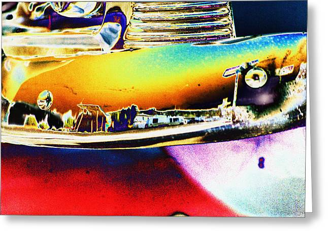 Psychedelic Chevy Bumper Greeting Card by Richard Henne