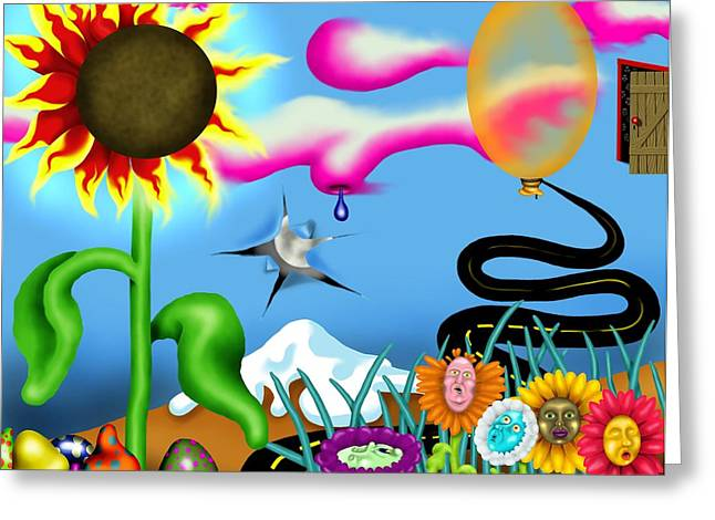 Psychedelic Dreamscape I Greeting Card