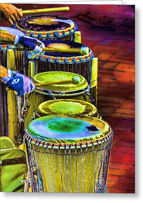 Psychedelic Drums Greeting Card