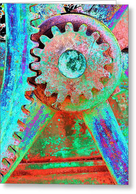 Psychedelic Gears Greeting Card