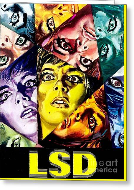 Psychedelic Lsd Poster Greeting Card by Pd