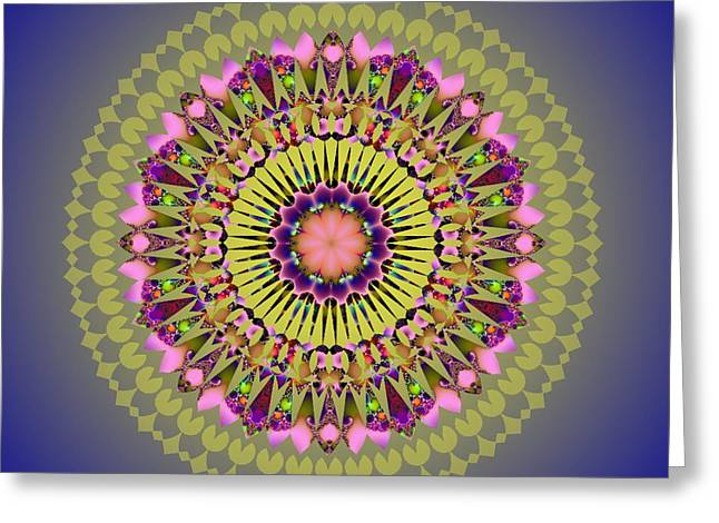Psychedelic Mandala 001 A Greeting Card by Larry Capra