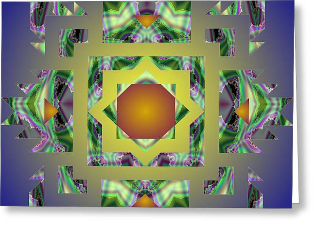 Psychedelic Mandala 002 A Greeting Card by Larry Capra