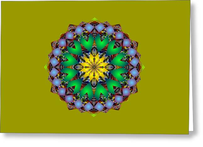 Psychedelic Mandala 003 A Greeting Card