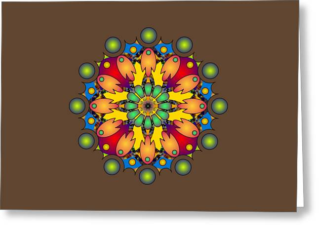 Psychedelic Mandala 009 A Greeting Card