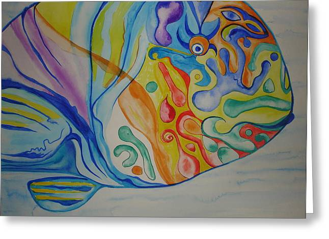Psychedelic Parrotfish Greeting Card