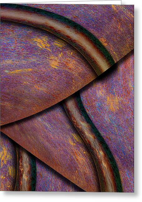 Psychedelic Pi Greeting Card by Paul Wear