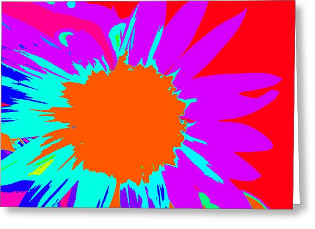 Psychedelic Sunflower Greeting Card