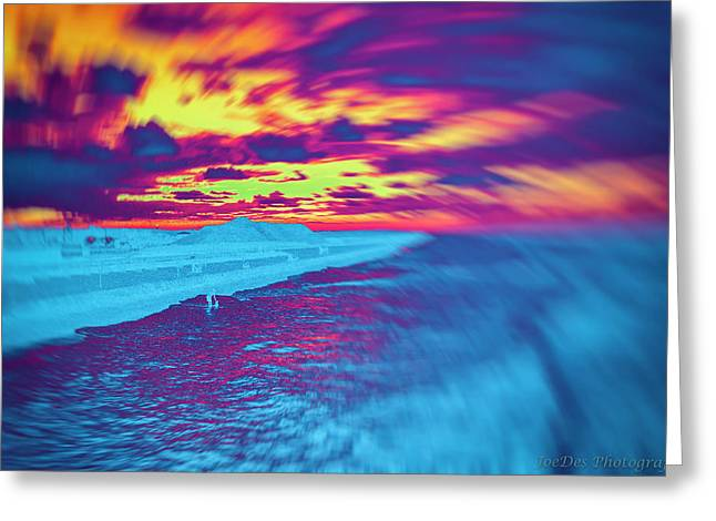 Psychedelic Sunset Greeting Card