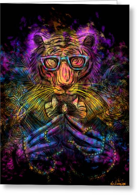Psychedelic Tiger Greeting Card