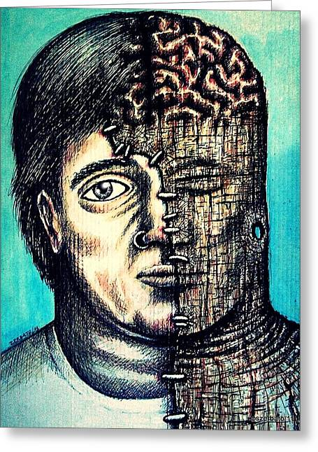 Psychological Piercing Greeting Card