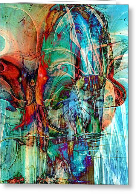 Psychotic Greeting Card by Linda Sannuti