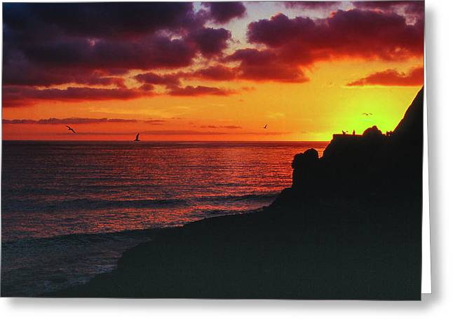 Greeting Card featuring the photograph Pt Mugu Sunset by Samuel M Purvis III