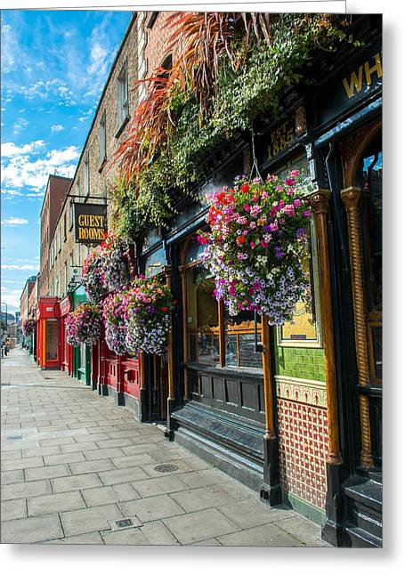 Pub In Dublin In Ireland Greeting Card by Andreas Berthold