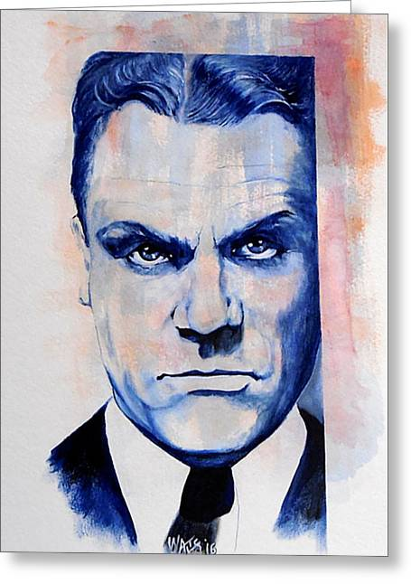 Public Enemy - Jimmy Cagney Greeting Card by William Walts
