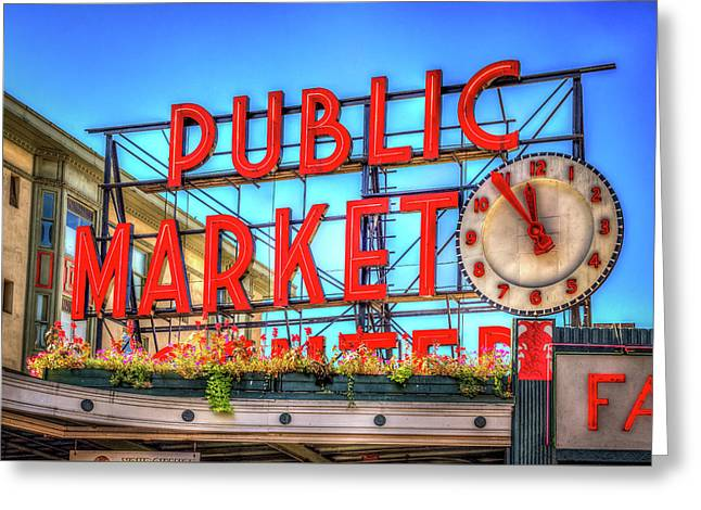 Public Market At Noon Greeting Card by Spencer McDonald