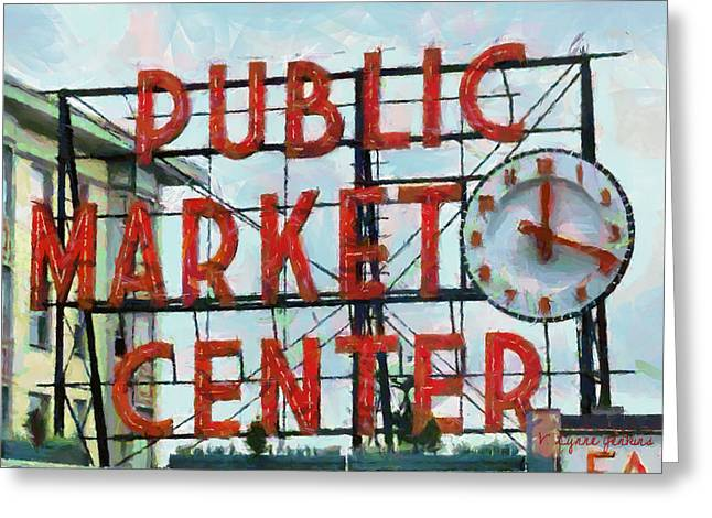 Public Market Center Greeting Card