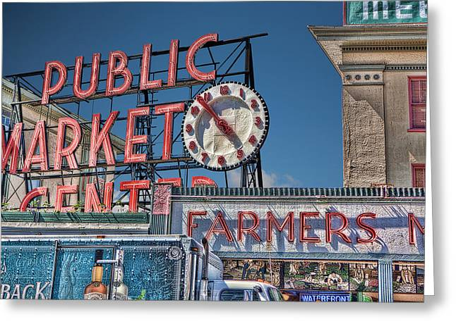 Public Market Greeting Card