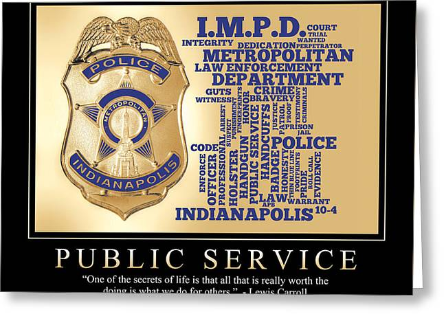 Public Service 1 Greeting Card by Dave Lee