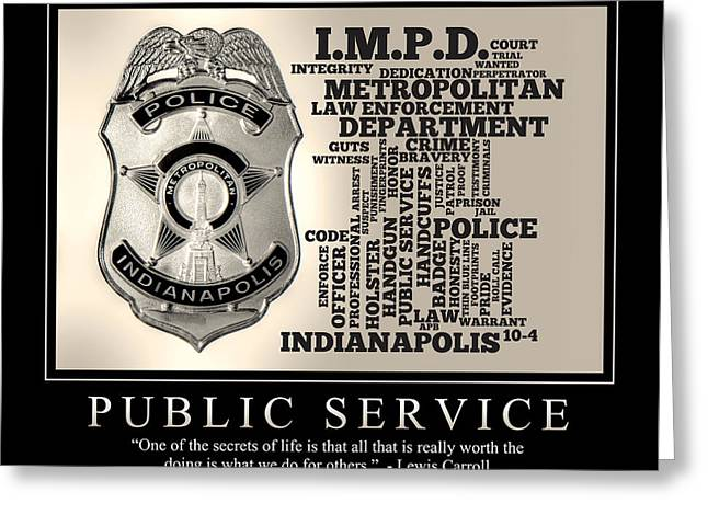 Public Service 2 Greeting Card by Dave Lee