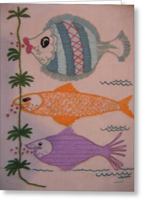 Colrful Greeting Cards - Pucker Up Greeting Card by Marlene Robbins