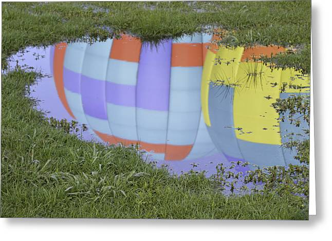 Puddle Reflections Greeting Card