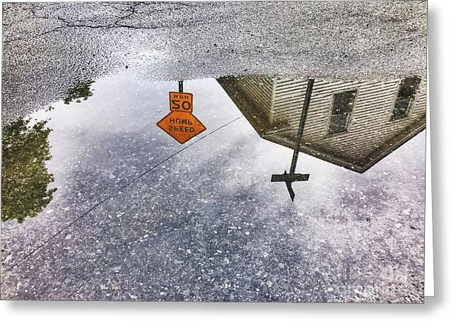 Puddle-view Tours Greeting Card