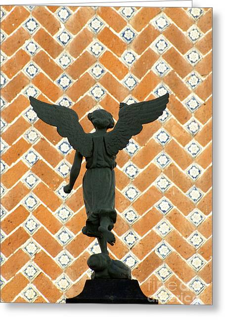 Greeting Card featuring the photograph Puebla Angel Mexico by John  Mitchell
