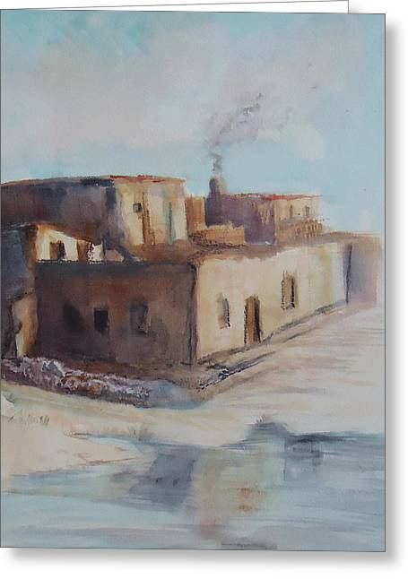 Pueblo After The Rain Greeting Card