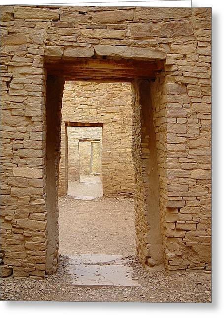 Pueblo Bonito Doors Greeting Card by Christina Solstad
