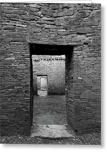Pueblo Bonito Doors Greeting Card by Joseph Smith