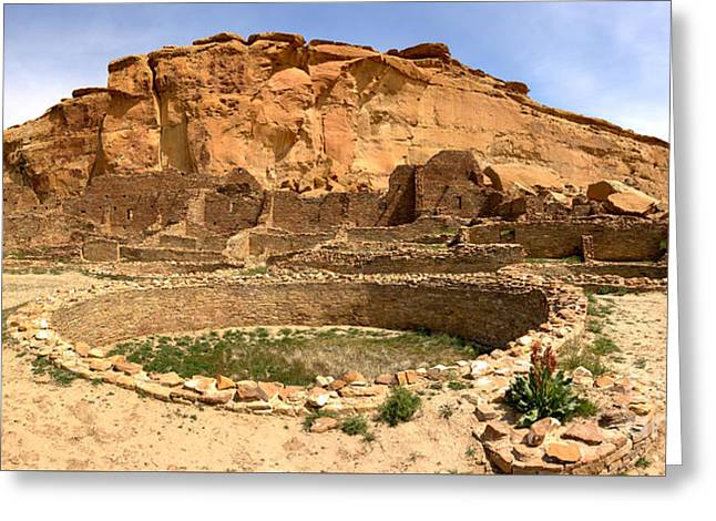 Greeting Card featuring the photograph Pueblo Bonito Kiva Ruins by Adam Jewell