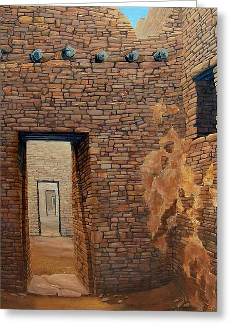 Pueblo Bonito Greeting Card by Michael Cranford