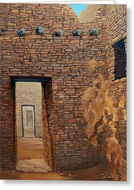Pueblo Bonito Greeting Card by Michael Cranford