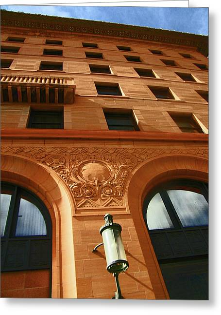 Abstract Expressionist Photographs Greeting Cards - Pueblo Downtown Thatcher Building 2 Greeting Card by Lenore Senior