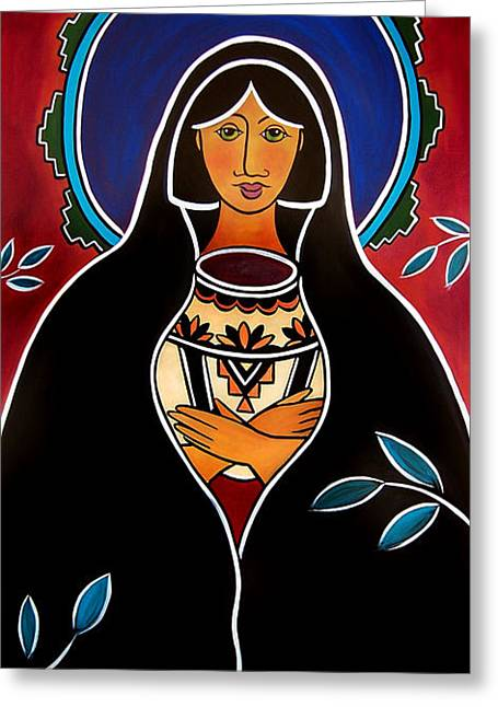 Pueblo Madonna Greeting Card
