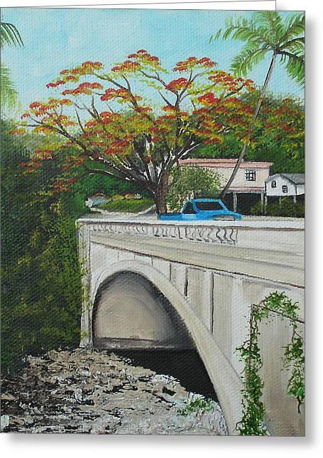 Puente En Adjuntas Greeting Card by Gloria E Barreto-Rodriguez