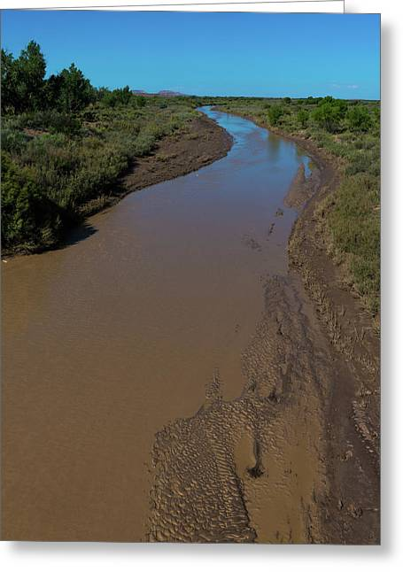 Puerco River Flows Greeting Card