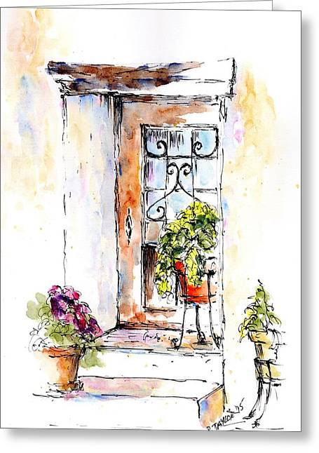 Patio Andaluz Greeting Card by Pam Taylor