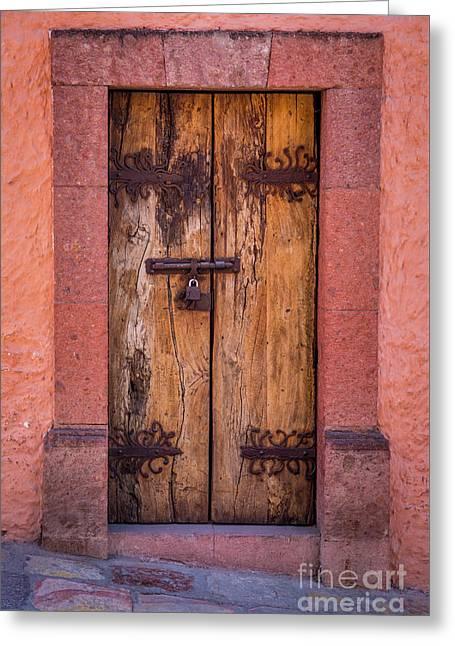 Puerta Vieja Greeting Card by Inge Johnsson
