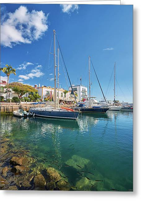 Greeting Card featuring the photograph Puerto De Mogan by Marc Huebner