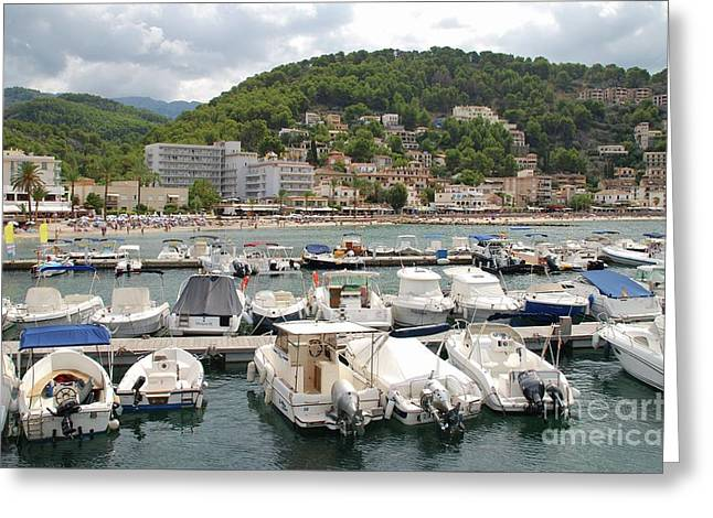 Puerto De Soller In Majorca Greeting Card
