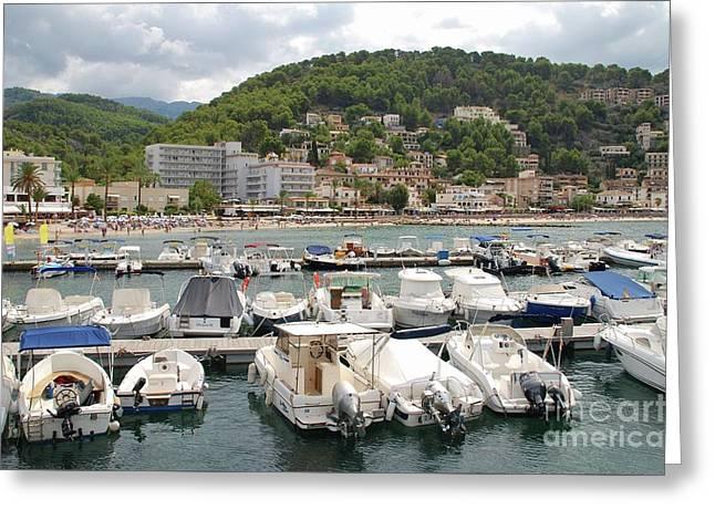Puerto De Soller In Majorca Greeting Card
