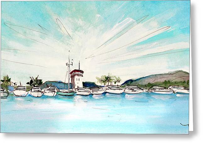 Puerto Portals 01 Greeting Card by Miki De Goodaboom