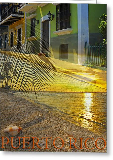 Best Sellers -  - Sunset Posters Greeting Cards - Puerto Rico Collage 3 Greeting Card by Stephen Anderson