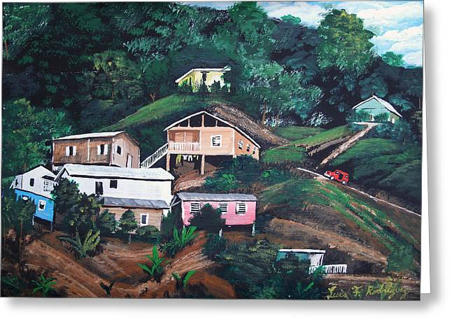 Puerto Rico Mountain View Greeting Card by Luis F Rodriguez