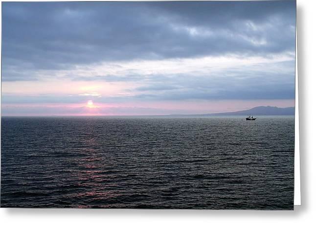 Puerto Vallarta Bay At Sunset Greeting Card